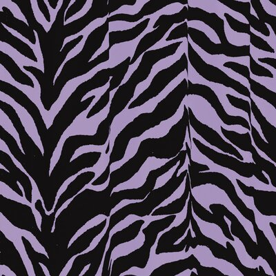 Zebra Shower Curtain Color: Lavender
