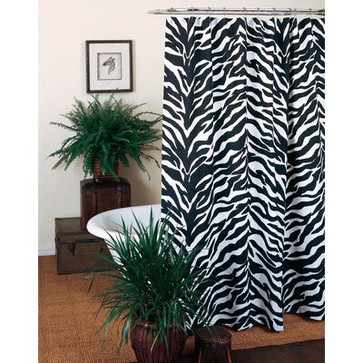 Zebra Shower Curtain Color: Black/White