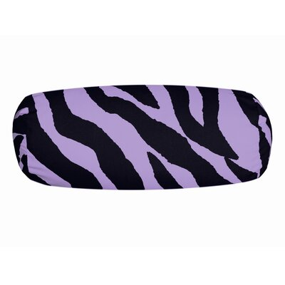 Zebra Neckroll Bolster Pillow Color: Lavender