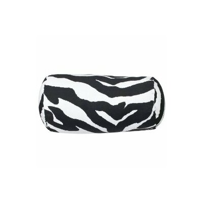 Zebra Neckroll Bolster Pillow Color: Black