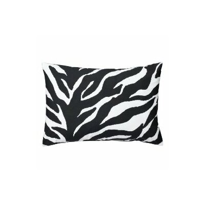 Zebra Oblong Lumbar Pillow Color: Black