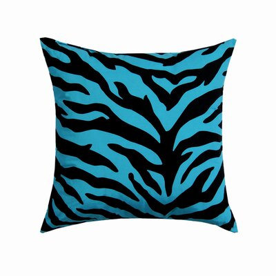 Zebra Square Cotton Throw Pillow