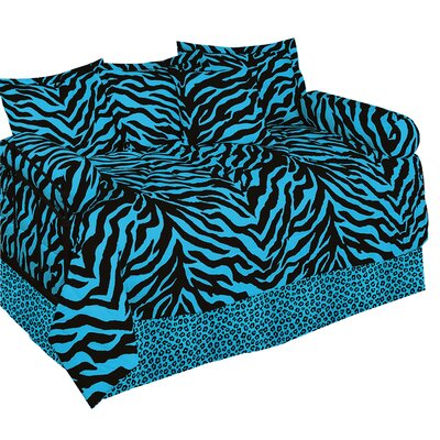 Zebra Ensemble 5 Piece Daybed Set Color: Blue