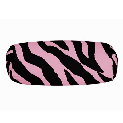 Zebra Neckroll Bolster Pillow Color: Pink