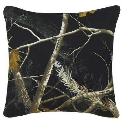 Realtree Camo Cotton Throw Pillow Color: Black