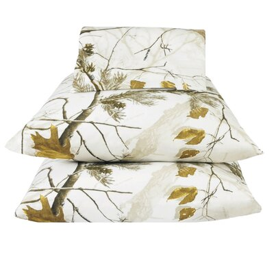 Realtree Camo Snow Sheet Set Size: Queen