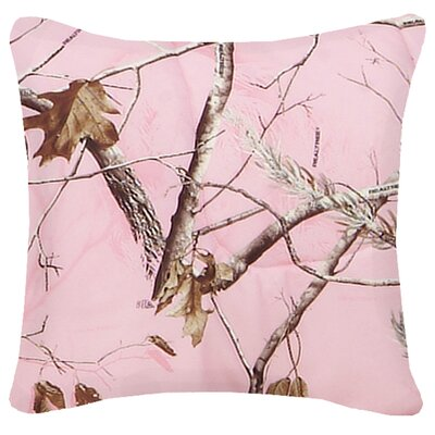 Realtree Camo Cotton Throw Pillow Color: Pink