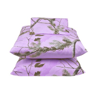 APC 180 Thread Count Percale Sheet Set Size: Full, Color: Lavender