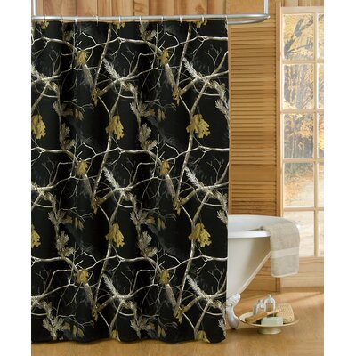 Realtree Camo Shower Curtain Color: Black