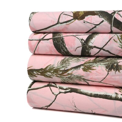 Realtree Johana 180 Thread Count Sheet Set Size: Full
