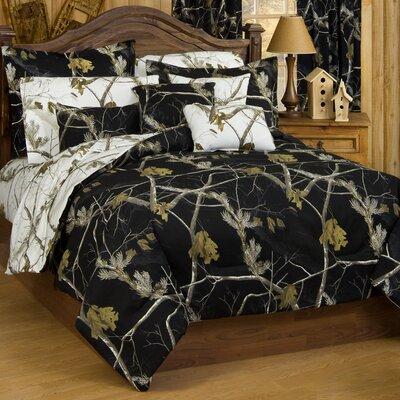 Camo Comforter Set Size: Queen, Color: Black