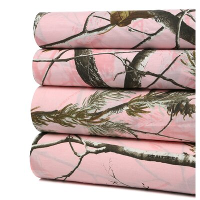 Realtree Camo Snow Sheet Set Size: Full