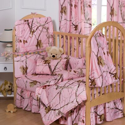 pink real tree Camouflage Baby Bedding