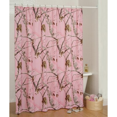 Realtree Camo Shower Curtain Color: Pink