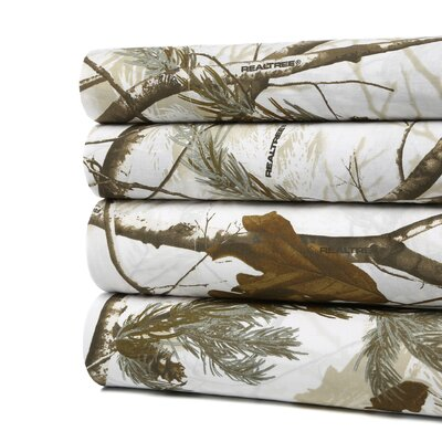 Realtree Camo Snow Sheet Set Size: Twin