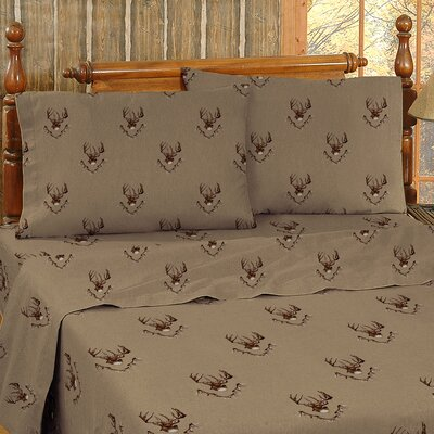 Whitetail Ridge Cotton Sheet Set Size: Queen