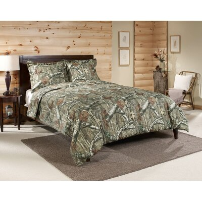 3 Piece Reversible Comforter Set Size: Full, Color: Green