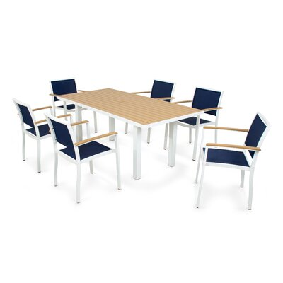 Bayline Dining Set Ii Satin Fabric Navy Blue - Product photo