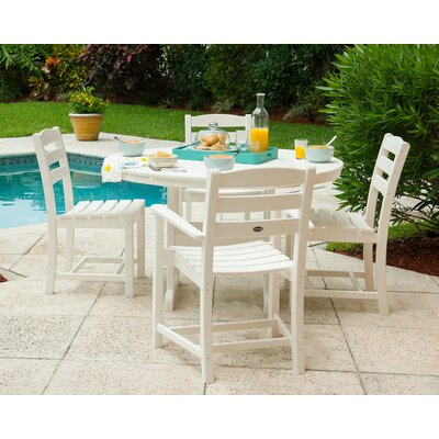 La Casa Caf� 5 Piece Dining Set Finish: White