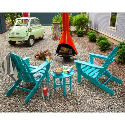 Classic 3 Piece Adirondack Seating Group Frame Finish: Aruba