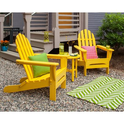 Classic 3 Piece Adirondack Seating Group Frame Finish: Lemon