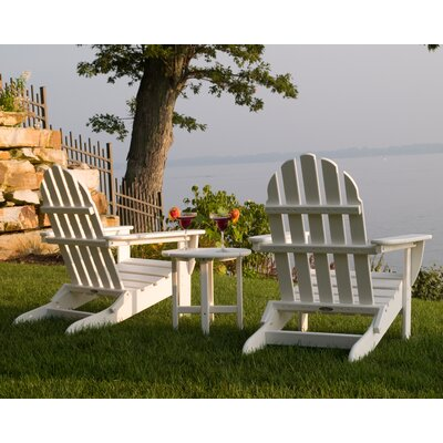 Classic 3 Piece Adirondack Seating Group Frame Finish: White
