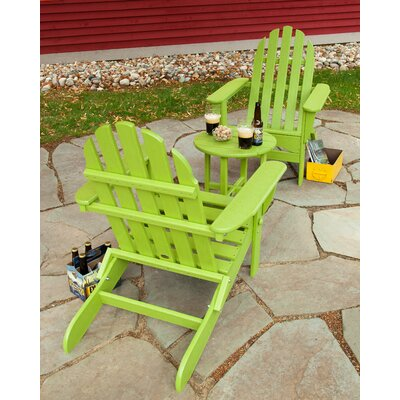 Classic 3 Piece Adirondack Seating Group Frame Finish: Lime
