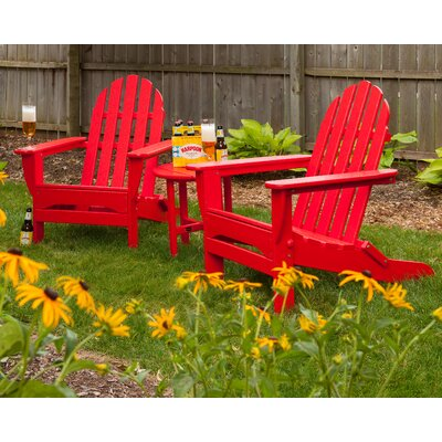 Classic 3 Piece Adirondack Seating Group Frame Finish: Sunset Red