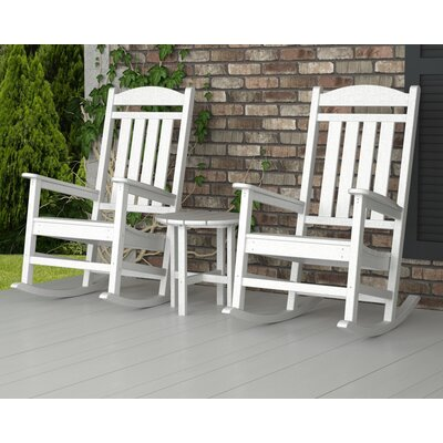 Presidential 3 Piece Rocker Seating Group Finish: White