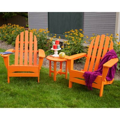 Classic 3 Piece Adirondack Seating Group Frame Finish: Tangerine