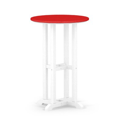 Contempo Dining Table Finish: White / Sunset Red