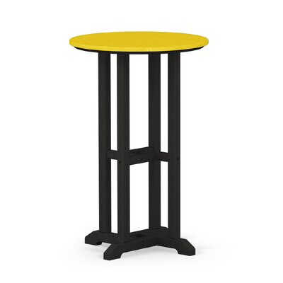 Contempo Dining Table Finish: Black / Lemon