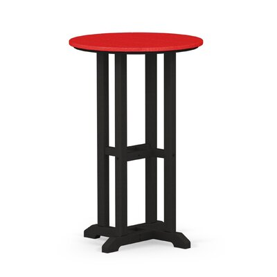 Contempo Dining Table Finish: Black / Sunset Red