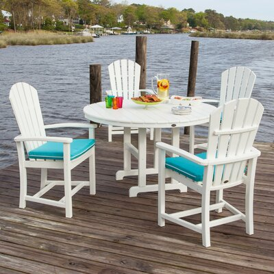 Palm Coast 5 Piece Dining Set Finish: White