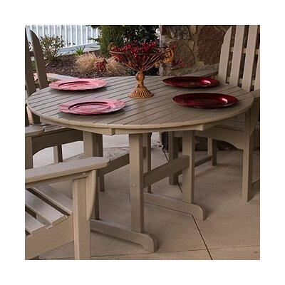 Round Dining Table Finish: Sand, Table Size: 48