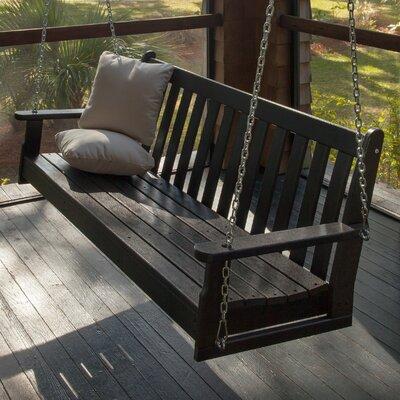Vineyard Porch Swing Finish: Black
