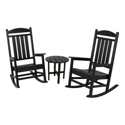 Presidential 3 Piece Rocker Seating Group Finish: Black