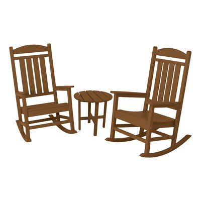 Presidential 3 Piece Rocker Seating Group Finish: Teak