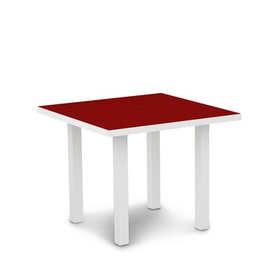 Euro Dining Table Finish: Textured White Aluminum Frame / Sunset Red