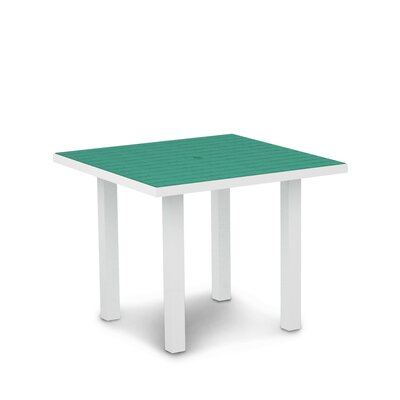 Euro Dining Table Finish: Textured White Aluminum Frame / Aruba