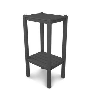 Two Shelf Bar Height Side Table Finish: Slate Grey