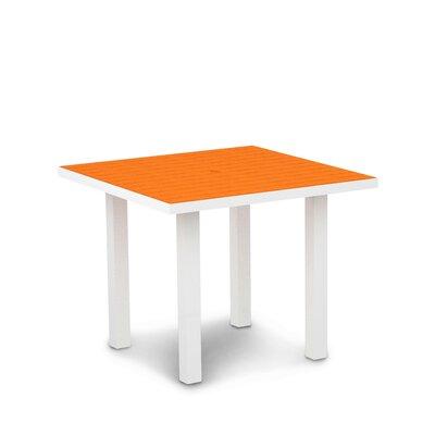 Euro Dining Table Finish: Textured White Aluminum Frame / Tangerine