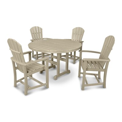Palm Coast 5 Piece Dining Set Finish: Sand