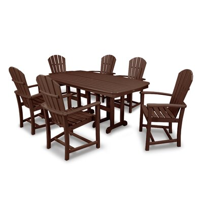 Palm Coast 7 Piece Dining Set Finish: Mahogany