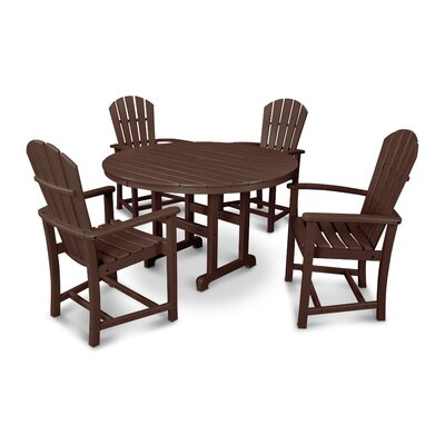 Palm Coast 5 Piece Dining Set Finish: Mahogany