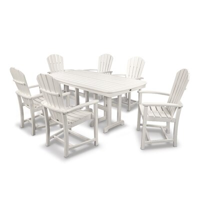 Palm Coast 7 Piece Dining Set Finish: White