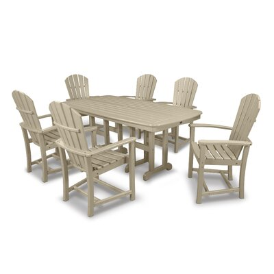 Palm Coast 7 Piece Dining Set Finish: Sand