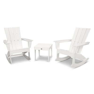 Quattro 3 Piece Rocker Seating Group Finish: White