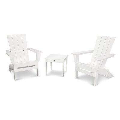 Quattro 3 Piece Adirondack Seating Group Finish: White