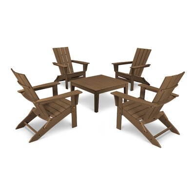 Quattro 5 Piece Dining Set Finish: Teak